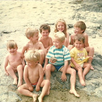 Summer family holiday with the griffins, Coomenoole beach, Kerry 1987