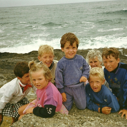 Holidaying in Inchydoney with the Sheehys and Granny, 1988