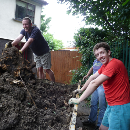 Heavy landscaping in Athgoe road with Dad and Darragh, summer 2009