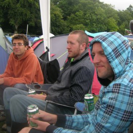At electric picnic, with Marçal and Billy, September 2009