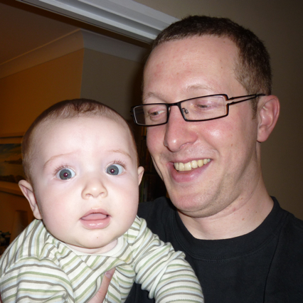 With his treasured godson Brian