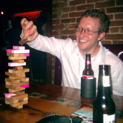 Playing Jenga, NYC, Summer 2010