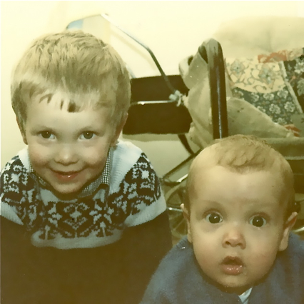 With Baby Darragh, February 1982