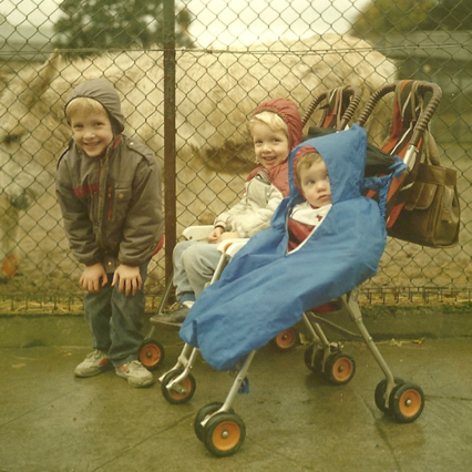 Trip to the zoo with Darragh and Triona, 1985
